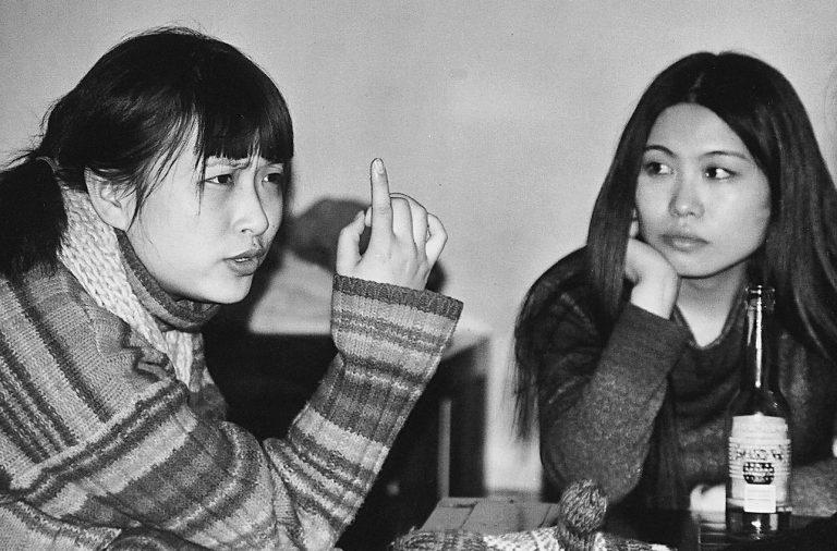 大学生在第一届北京同性恋文化节招待酒会,北京大学, 2001