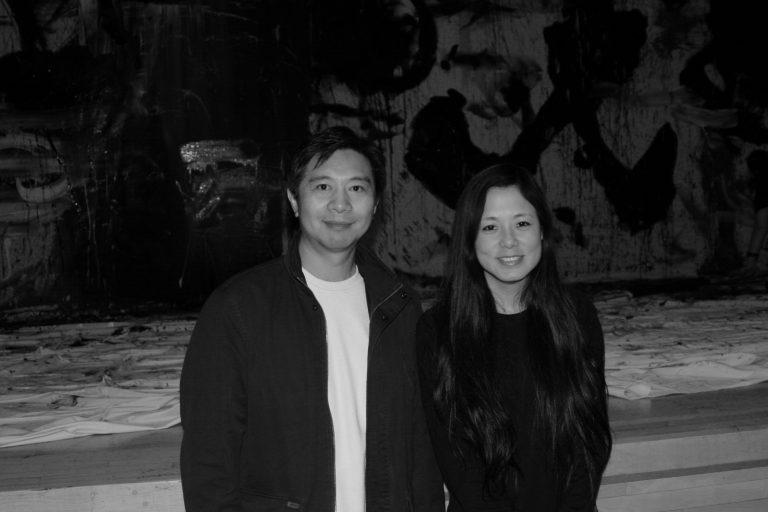 李杨,《盲井》(2003)导演,与Norman的妻子彭筱剑,哥伦比亚大学,纽约,2007