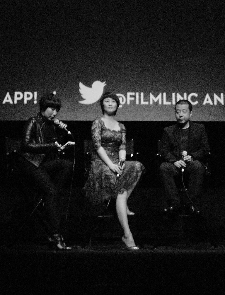 贾樟柯与赵涛在亚洲学会,贾樟柯回顾展,MoMA, 纽约,2010